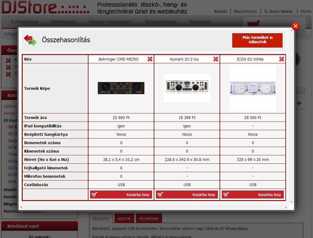 Behringer CMD Micro - Numark DJ-2-GO - ICON iDJ összehasonlítás